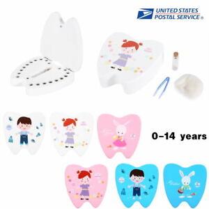 New Baby Tooth Small Storage Kids Child Keepsake Wooden Box Boy Girl Save Teeth