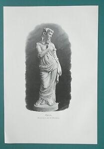OPHELIA-Shakespeare-Denmark-Noblewoman-Sculture-Art-1892-Victorian-Era-Print