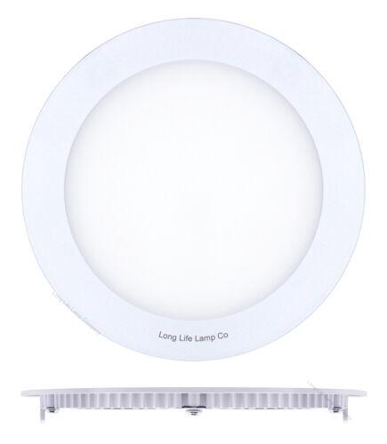DEL 12 W rond ou carré encastré plafond Panel Down Light ultra fin blanc froid