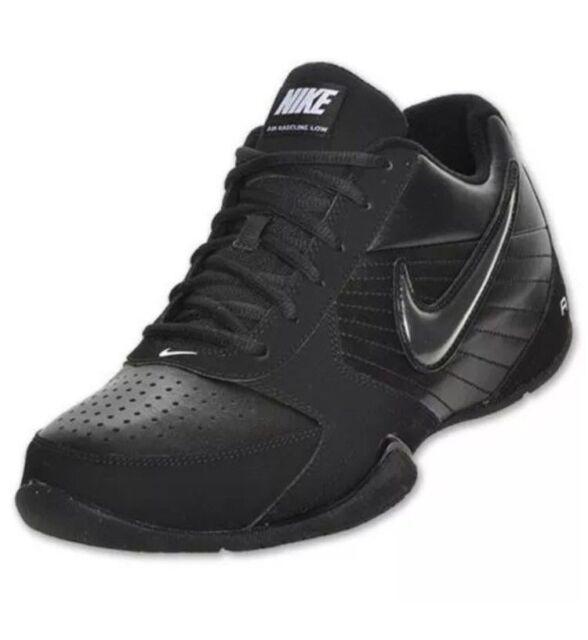 Nike Air Baseline Low Men's SZ 8  Basketball Shoes Black/Black 386240-001