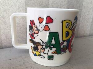 Details about Vintage Walt Disney Company ABC 123 Kids Plastic Cup