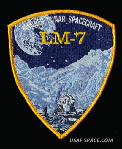 "4x47//8/"" AB EMBLEM SPACE PATCH GRUMMAN LM 7 APOLLO 13 LUNAR MODULE AQUARIUS"