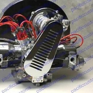 Details About Chrome Louvered Pulley Fan Belt Guard For Vw Beetle Engine Trikes Dune Buggy