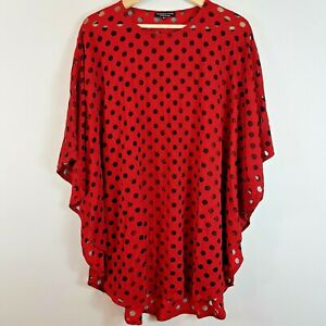 FRANCESCA-ETTORE-Womens-Mesh-Spot-Top-Size-AU-14-or-US-10-IT-48