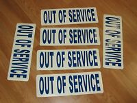 3 Pair Out Of Service Magnetics Truck Ems Fire Ambulance Tow Truck 18 Wheeler