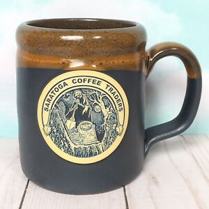 Saratoga-Coffee-Traders-Deneen-Pottery-Mug-GRAVE-DIGGER-344-of-600