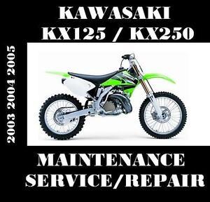 kawasaki kx125 kx250 service manual kx 125 250 repair rebuild rh ebay com  2003 kawasaki kx125 service manual pdf