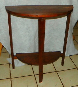 Image Is Loading Solid Walnut Demilune Entry Table Side Table T605