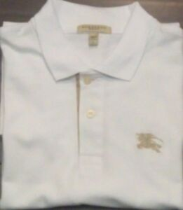 2554cb01c Image is loading Burberry-Golf-Mens-Shirt-Size-Large-Short-Sleeve-