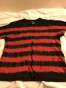 6f64a8c6 AMIRI Distressed Tie-Dyed Cotton T-Shirt Size Xl Red & Black   eBay