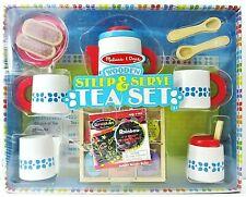 Melissa /& Doug Steep and Serve Tea Set Wooden Toy Play Set 19843
