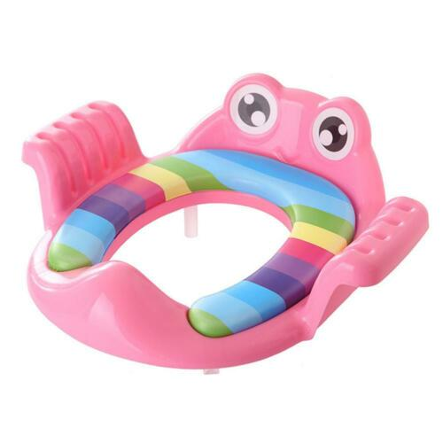 Cartoon Baby Potty Seat Ring Girls Boys Trainers Toilet Pad with Armrests ♞