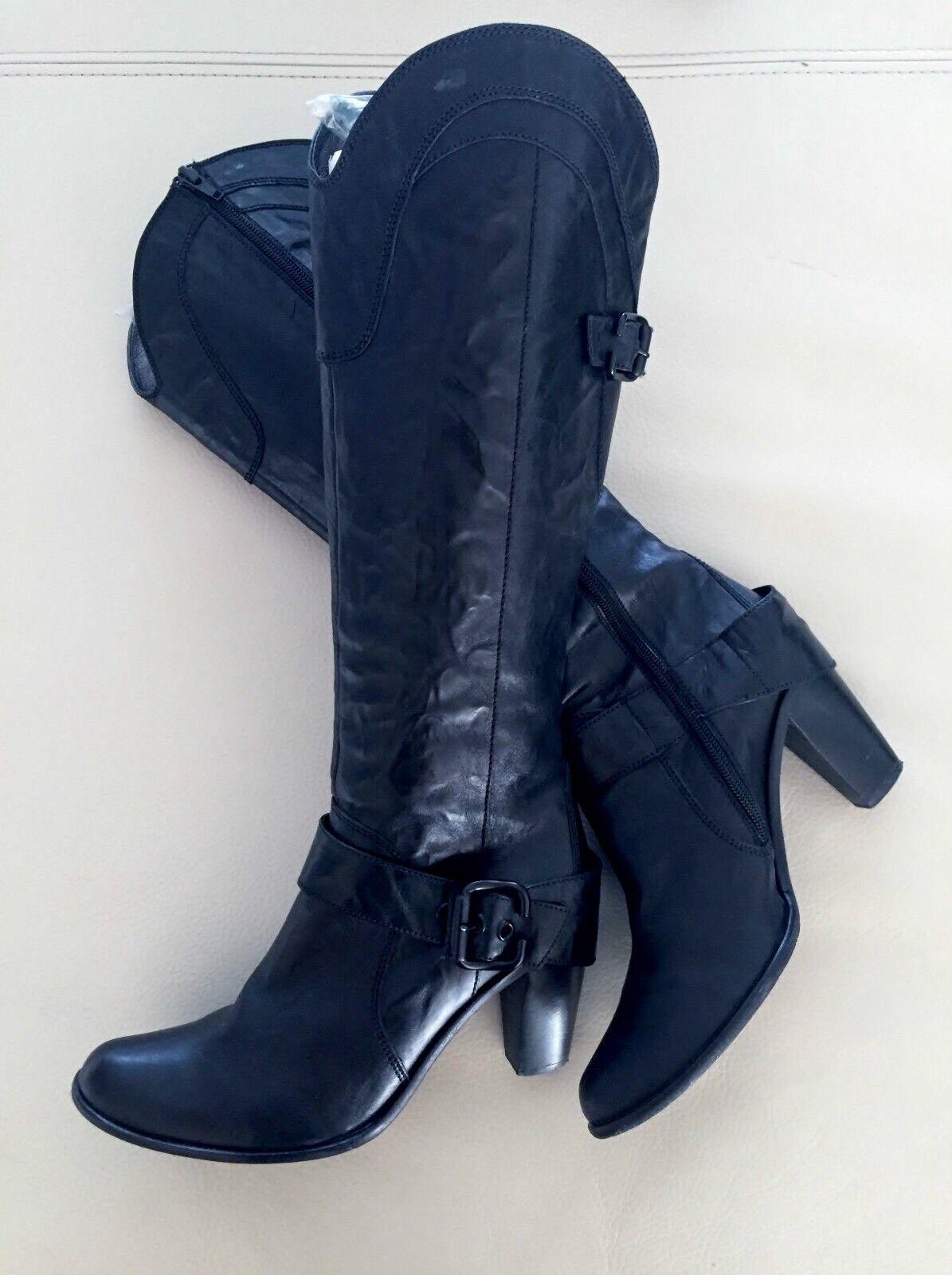 Janet & Janet botas con el apartado cuero negro
