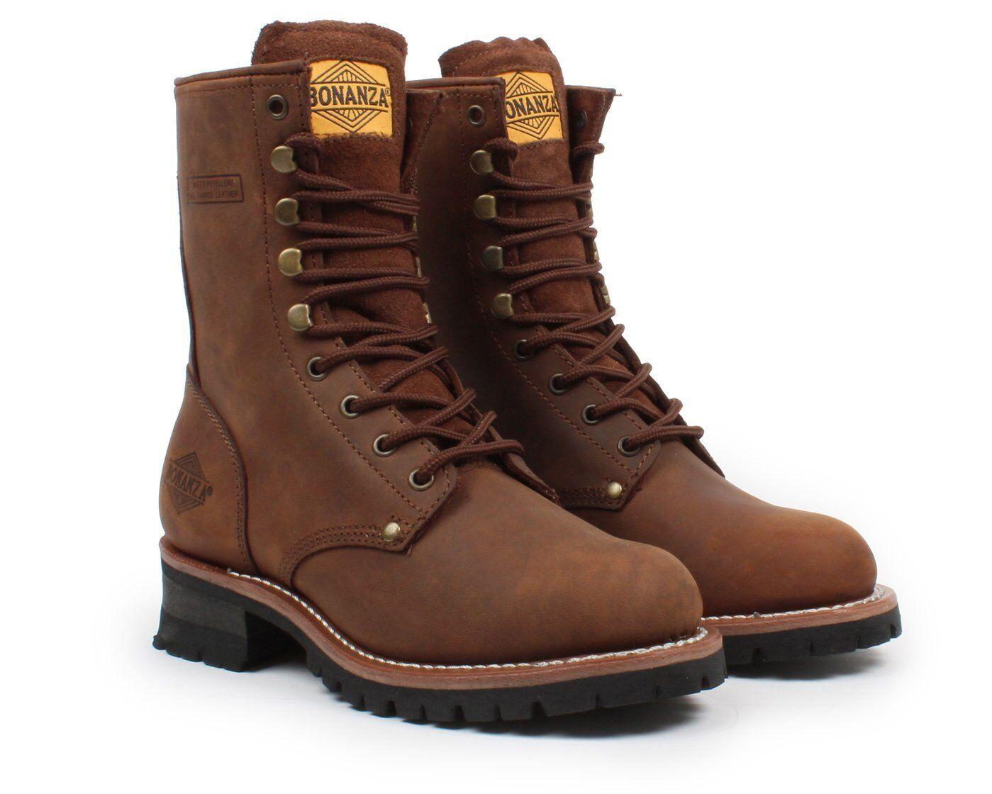Bonanza Boots T901 Logger Goodyear Welt Construction Steel Toe Medium