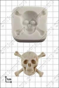 Totenkopf-Form Fimo und andere Bastelarbeiten Wachs FPC Sugarcraft 3D-Silikonform f/ür Harz Seife
