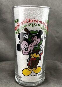 Vintage-Mickey-039-s-Christmas-Carol-Glass-Coca-Cola-Coke-1982-Tiny-Tim-Morty