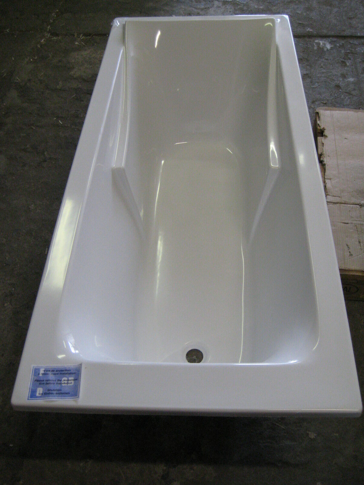 Körperform-Badewanne 170x75cm, Serie Corvette3, Artikel 60901-00  Badewanne NEU