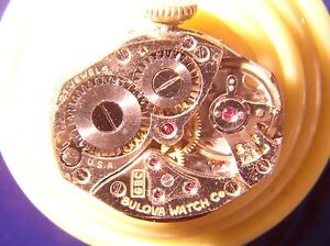 Bulova Excellency, 6BC 21J Movement, for parts or Restoration
