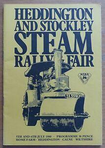 Heddington amp Stockley Steam Rally amp Fair  1980 Programme - Swindon, United Kingdom - Heddington amp Stockley Steam Rally amp Fair  1980 Programme - Swindon, United Kingdom