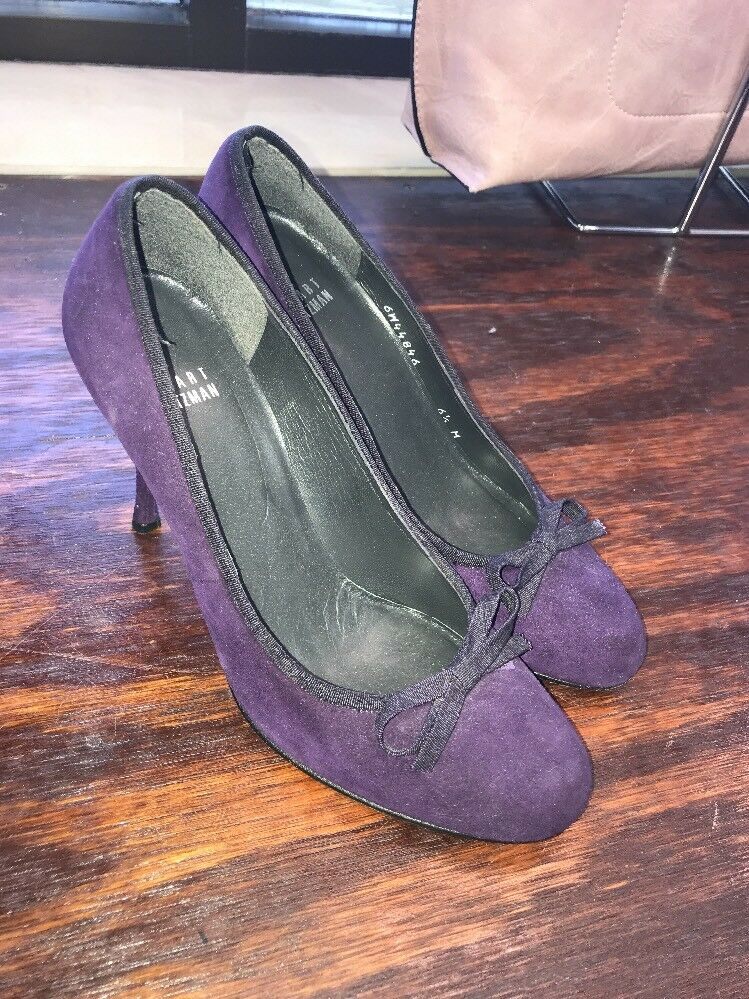 Stuart Weitzman Pumps Size 6 1/2 Purple Suede High Heels
