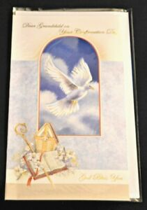 Grandchild-Confirmation-Greeting-Card-NEW-UNUSED-Christian-Catholic-Italy