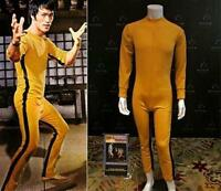 Bruce Lee Game Of Death Costume Kung Fu Yellow Jumpsuit Uniform All Size
