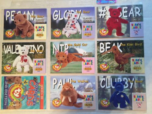 Ty Beanie Babies Series III S3 Classic Common Card Complete Set 8 pcs