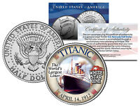1912 Titanic Worlds Largest Ship U.s. Mint Kennedy Half Dollar Coin With Coa