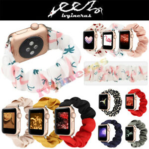 Scrunchie-Cute-Pattern-Loop-Band-Strap-For-Apple-Watch-iWatch-Series6-5-4-3-2-1