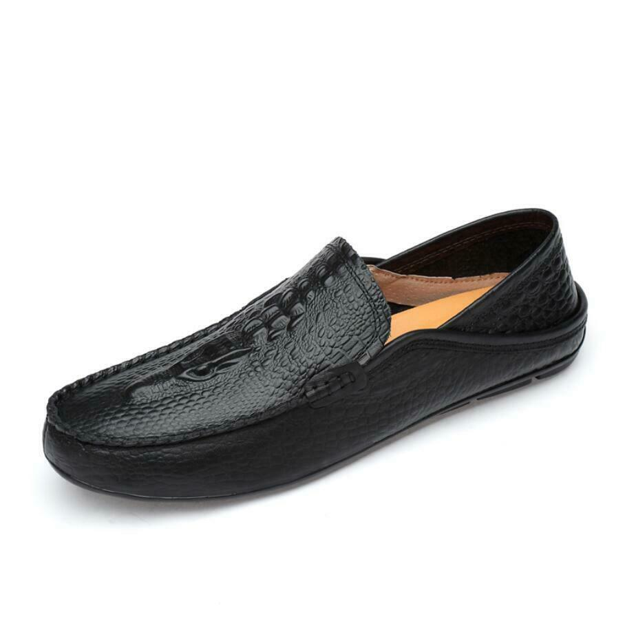 Men Alligator Real Leather Slip Slip Slip On Loafers Dress Formal Business Casual scarpe SZ e7f5a6