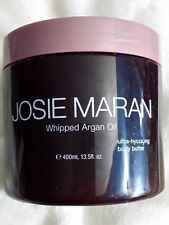 JOSIE MARAN ~ VANILLA ALMOND ~ WHIPPED ARGAN OIL BODY BUTTER 13.5 Oz
