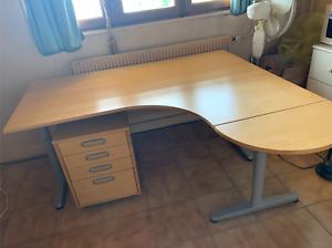 Bureau D Angle Ikea Caisson Comme Neuf Ebay