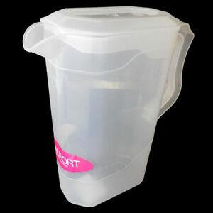 Image Is Loading 2 Litre Plastic Juice Jug Storage Lid Drink