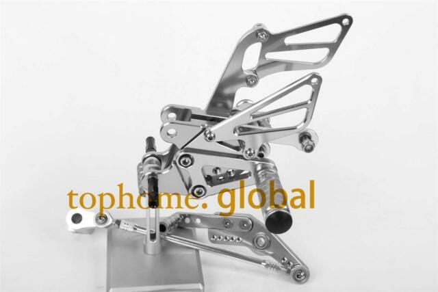 For Honda CBR1000RR 2008-2014 Rearset Footpegs CNC Silver Rear set Adjusting