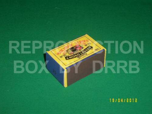 Matchbox 1-75 #35a E.R.F Marshall Horse Box Reproduction Box by DRRB