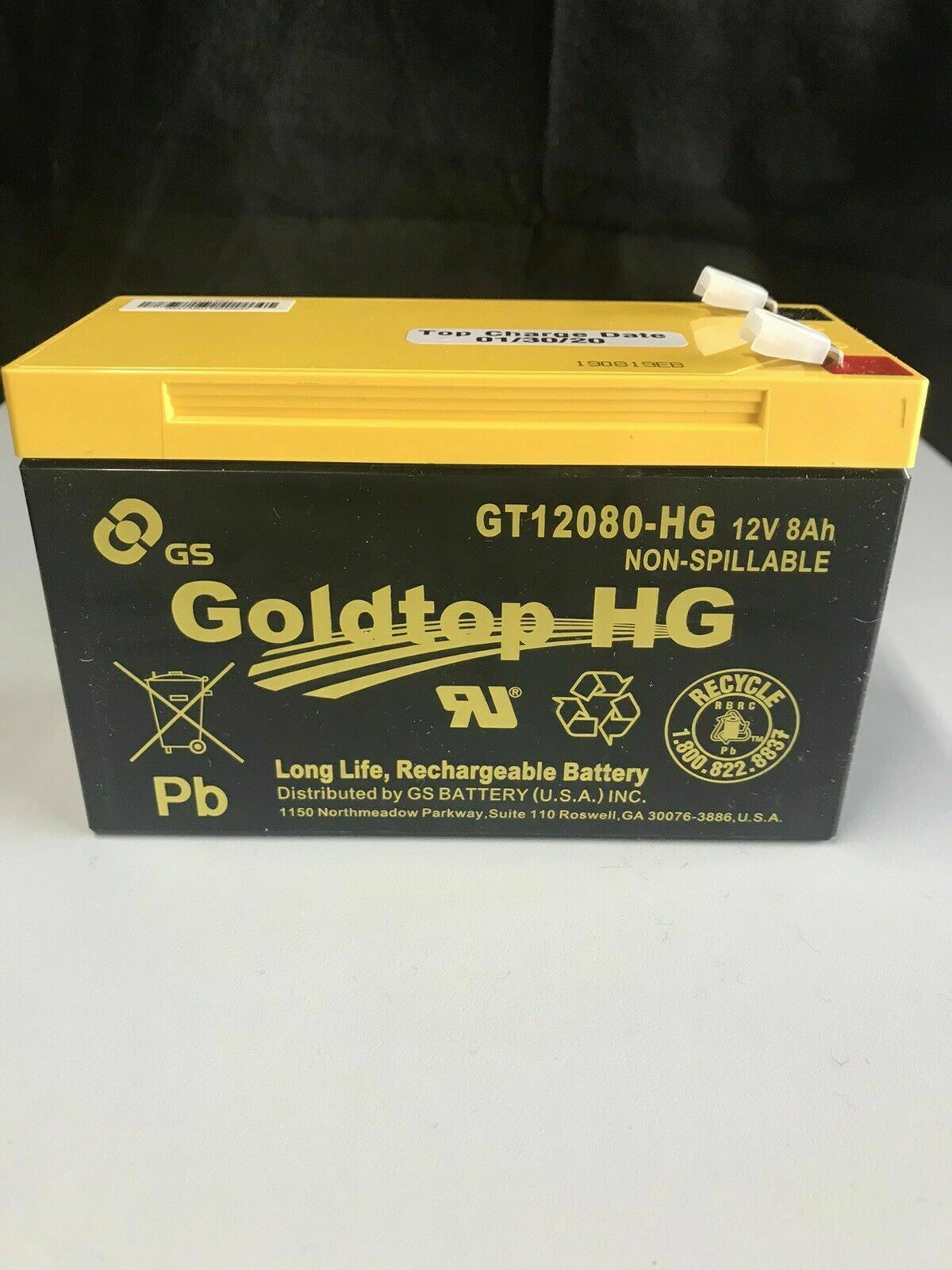 3 Year Warranty Premium Replacement for PX12072-HG GT12080-HG by GS Battery Genuine FiOS OEM Approved Replacement Battery