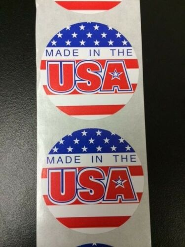 25 Made in the USA Circle Label Stickers Made in the USA  Labels NEW