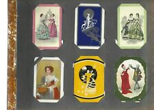 """Swap Playing Cards 1 VINT WIDE  ADVERT FOR /""""JACKSON TILES/""""   CAT  TOP HATS  AD38"""