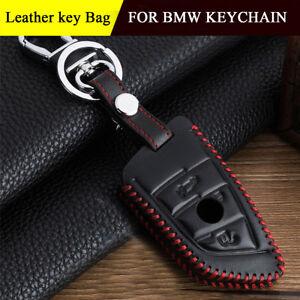Leather-Key-Chain-Key-Bag-Case-Fob-Holder-For-BMW-1-3-5-7-series-X1-X3-X4-X5-X6