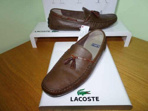 Lacoste Hommes Concours Paris Cuir Mocassins//Pantoufles Taille UK12//EU47 RRP £ 125