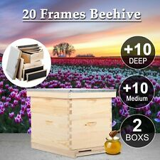 10 Frame Beehive Hive Bee Hive Frames 1 Medium Box 1 Deep W Box Queen Excluder