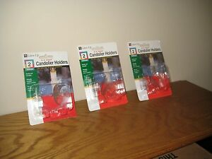 New Lites Up E-Z SNAP Window Candle Holders 3 Packs of 2 = 6 holders