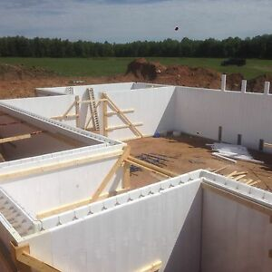 Insulated concrete forms vertical icf tf forming for Basement wall forms
