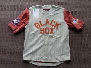 Negro-League-Baltimore-Black-Sox-LEATHER-PIG-SUEDE-SAMPLE-JERSEY-JH-Design