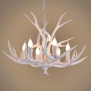 Vintage antler chandelier light retro deer horn restaurant pendant image is loading vintage antler chandelier light retro deer horn restaurant aloadofball Images