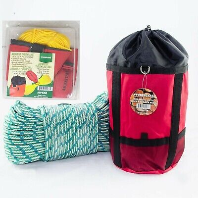 Arborist Throw Bag Kit Throw Line /& Bag,Climbing Rope /& Bag Saw Strap