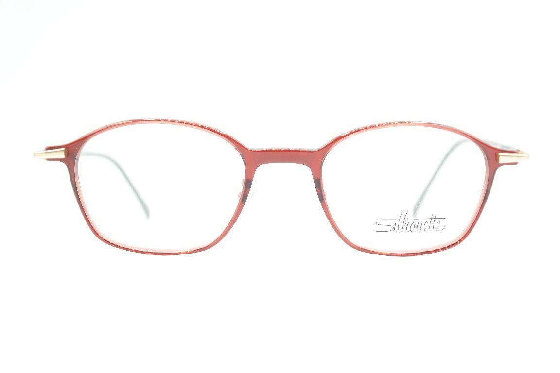 Silhouette M2206 Rot Schwarz oval Brille Brillengestell eyeglasses Neu