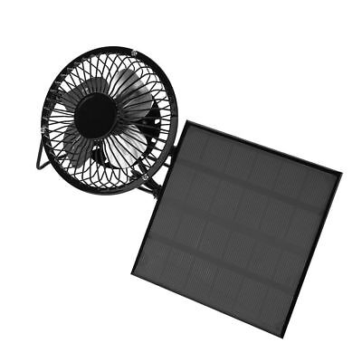 USB Solar Panel Iron Fan Powered 3W 6V For Outdoor Home Cooling Ventilation LJ