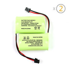 2Pcs Cordless 700mAh Home Phone Rechargeable Battery for Uniden BT1007 BT1015