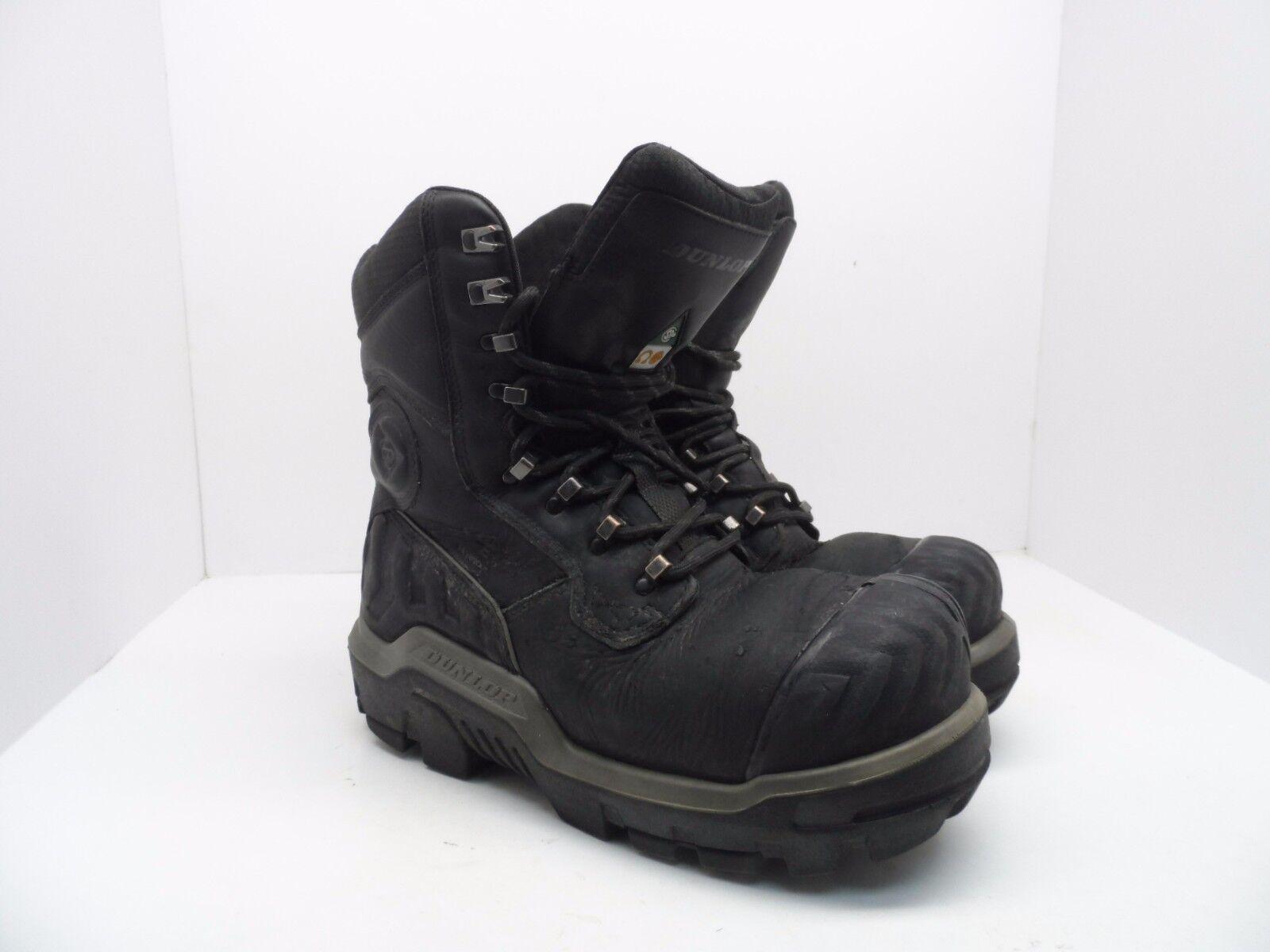 Dunlop Para Hombre 8  Compuesto Puntera Composite placa WP botas De Trabajo De Cuero Negro 8 M